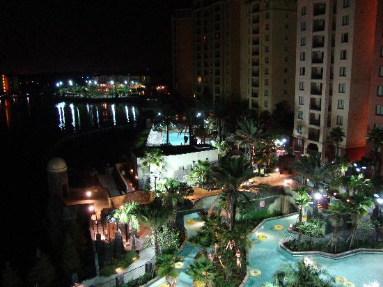 Balcony night view picture of wyndham bonnet creek for Balcony night view