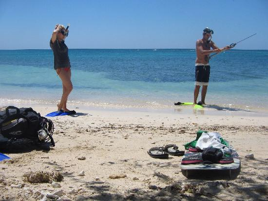 Natania's: me and my wife going spearfishing
