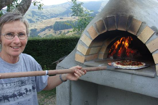 The Gables: Chris cooking pizza