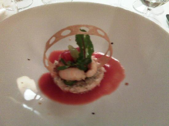 Maison Lameloise: Starter - crab and langoustine