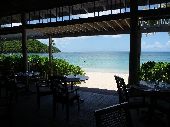 Carlisle Bay Antigua: Indigo On The Beach restaurant (look, no walls!)