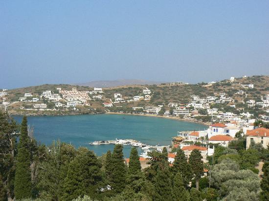 Batsi, اليونان: vue de la terrasse de jour