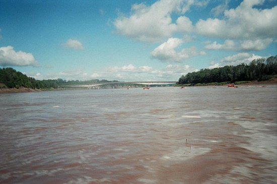 Maitland, Canada: View of Shubenacadie River from the raft