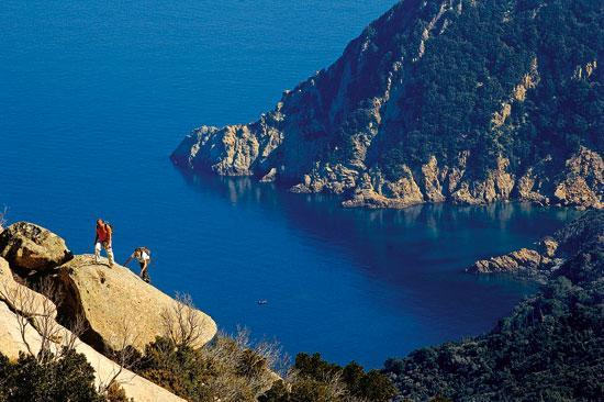 Marina di Campo, Italie : grande trekking all'isola d'Elba
