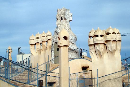 Gaudi | RachelTrek's Blog |Casa Mila Roof