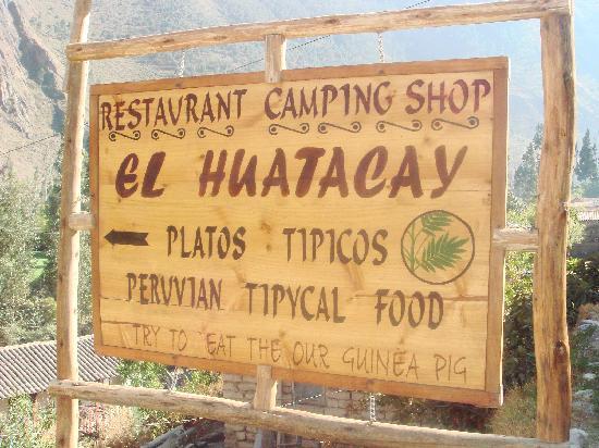 Bar Restaurant Turistico El Huatacay: Look for the sign!