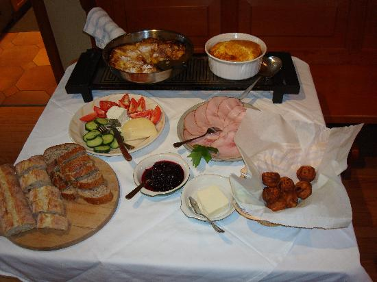 Durlacher Hof Alpine Country Inn: Part of a breakfast she cooked up personally for just 6 of us!
