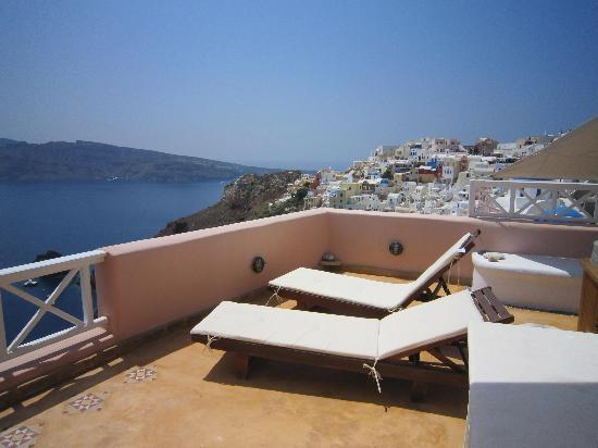 Art Maisons Luxury Santorini Hotels Aspaki & Oia Castle: view from the terrace
