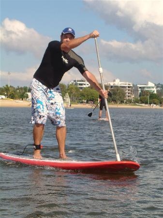 Mooloolaba Beach Backpackers: Stand up Paddle Boarding, easy when you know how!!