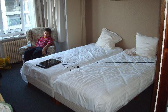 "Hotel Lehouck: main bedroom in ""family room"""