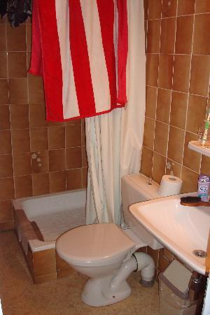 Hotel Lehouck : outdated bathroom but clean