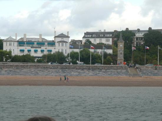 The Imperial Exmouth Hotel: View taken from the sea.....on our riverboat cruise