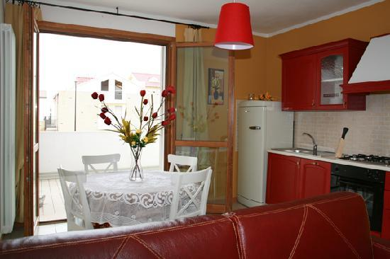 "Casa Roberta: ""Tiziano"" living area with the big terrace"