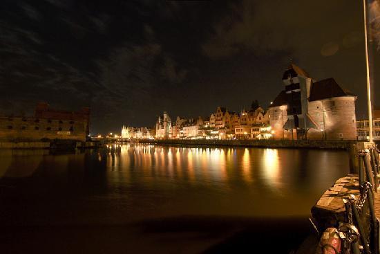 Hilton Gdansk: Old town seen from Lead Island