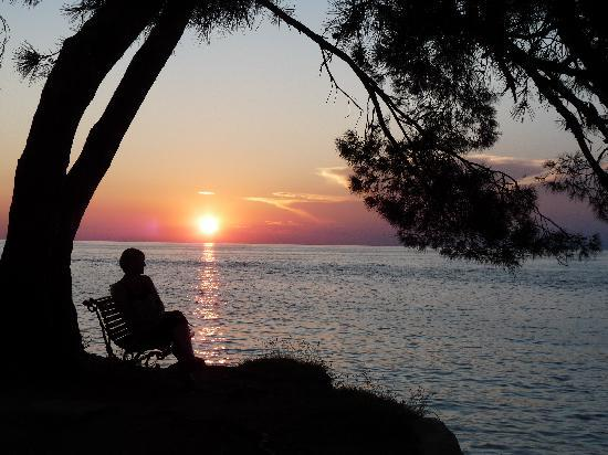 Island Hotel Istra: Fantastic sunsets from the island