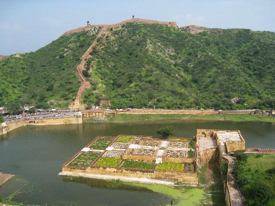 Jaipur, Inde : Vista desde el fuerte de Amber