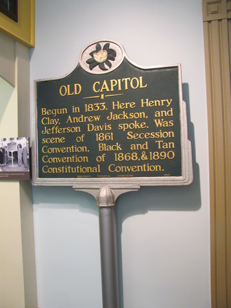 Old Capitol Museum: Old Sign that was out front at one time