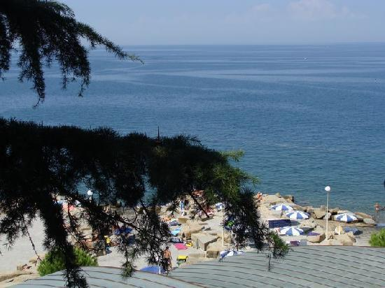 Barbara Piran Beach Hotel & Spa: Vom Balkon