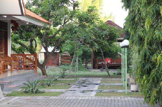 Rosali Hotel: Garten mit Zimmern