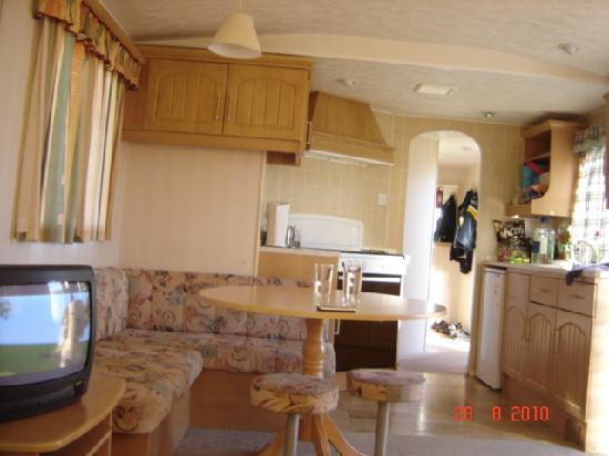 Perran Sands Holiday Park - Haven: Inside the caravan.