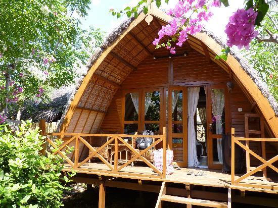 Manta Dive Gili Air Resort: vue sur notre chambre