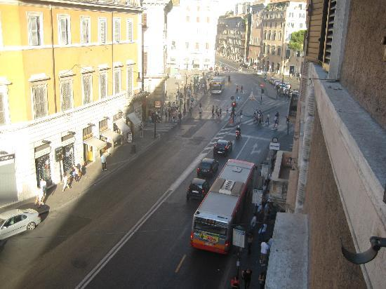Tiziano Hotel: View from our window