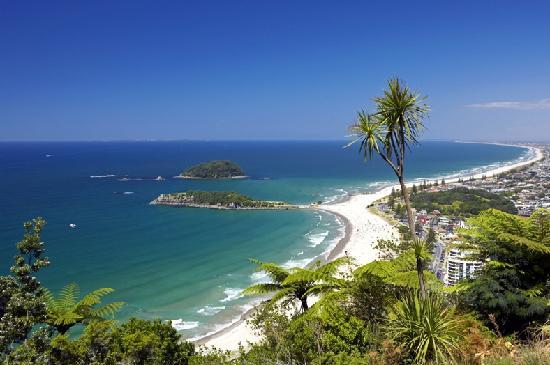 Tauranga, New Zealand: View from the top of Mount Maunganui, Bay of Plenty