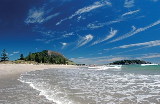 Tauranga, New Zealand: Beach, Mount Maunganui, Bay of Plenty