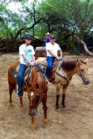 Houston's Horseback Riding: Getting ready to head out.