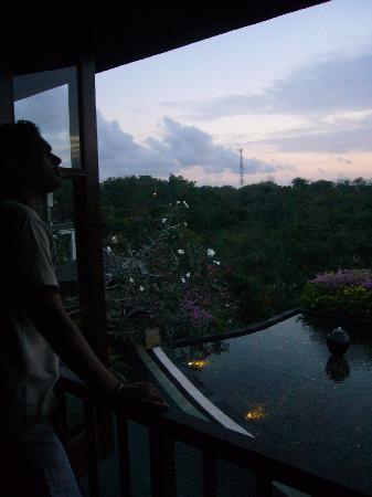 Gending Kedis Villas & Spa Estate: view from the top at dusk