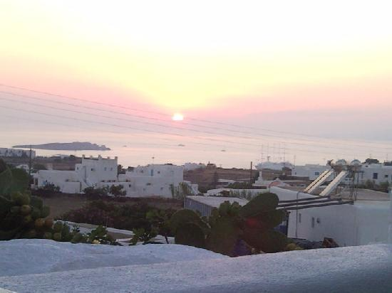 Milena Hotel: Sunset from the terrace of the hotel