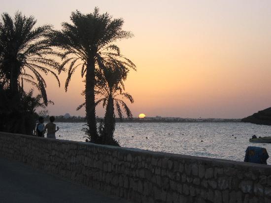 Club Marmara Yasmine: couché de soleil vu de la piscine