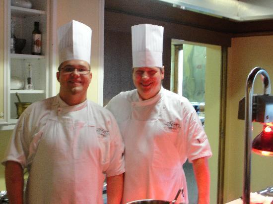 Garten Hotel Magdalena: Schefffkoch und sein Mitarbeiter