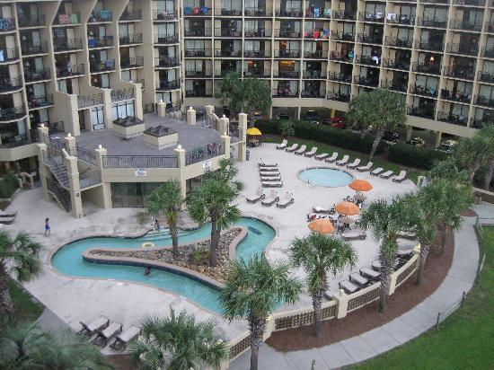 Springmaid Oceanfront Resort Myrtle Beach: View from our room 6th floor
