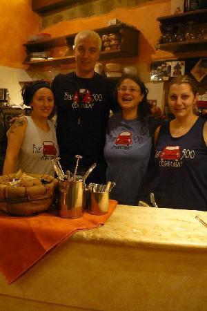 The staff at Bar 500