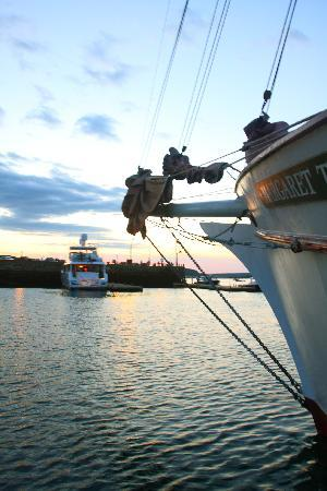 Downeast Windjammer Cruises Lines: A nice sunset - from the dock