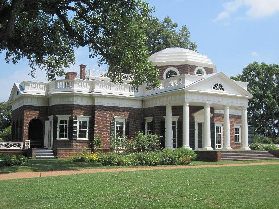 Thomas Jefferson's Monticello: Backside of estate