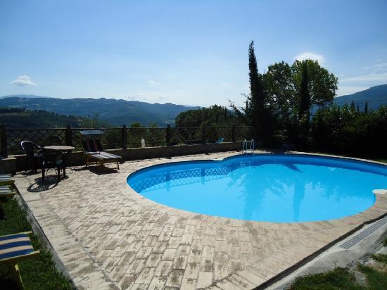 Agriturismo ColleParadiso: La piscina con panorama