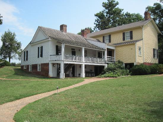 James Monroe's Highland: Rear of house (original part of home is yellow)