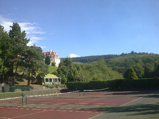 Peebles, UK: Tennis courts