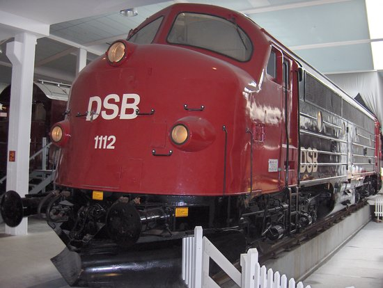 "Denmark's Railway Museum: 1950s ""Nohab"" diesel locomotive at the Danish Railway Museum, Odense"