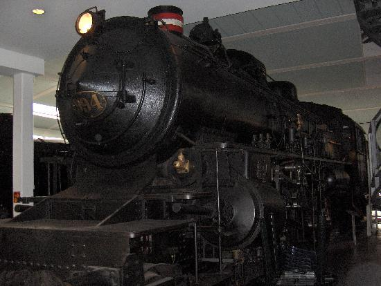 Steam locomotive at the Danish Railway Museum, Odense