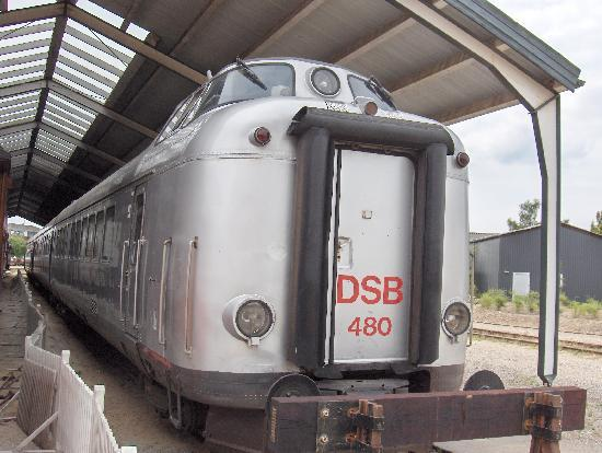"Denmark's Railway Museum: ""Lyntog"" diesel train at Danish Railway Museum, Odense"