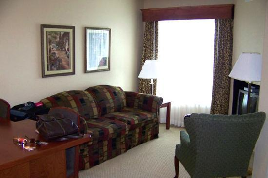 GrandStay Residential Suites Hotel Eau Claire : Very comfortable main sitting area with TV