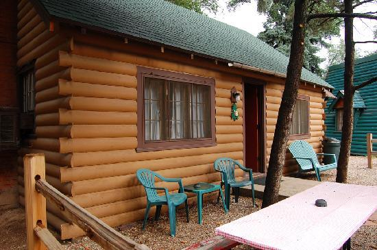 "Timber Lodge: The ""big"" cabin accommodates six adults easily."