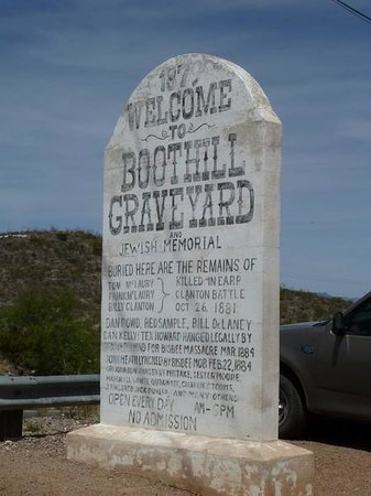 Boothilll Graveyard: Entrance Sign Boot Hill Graveyard