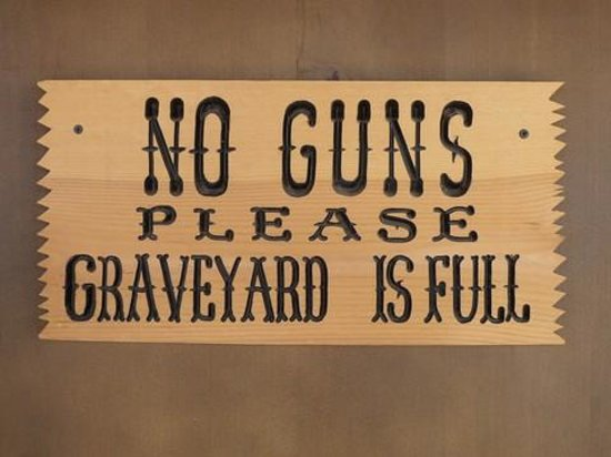 Boothilll Graveyard: Sign at Boot Hill Graveyard