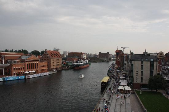 Hilton Gdansk: vista desde la terraza del bar