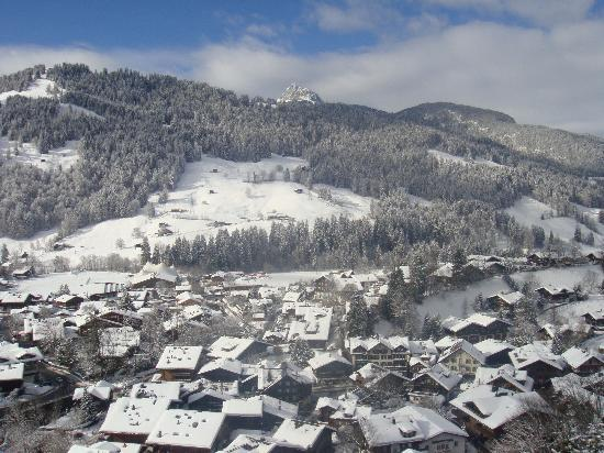 Gstaad Palace Hotel: The (Magnificent) View out of our Junior Suite