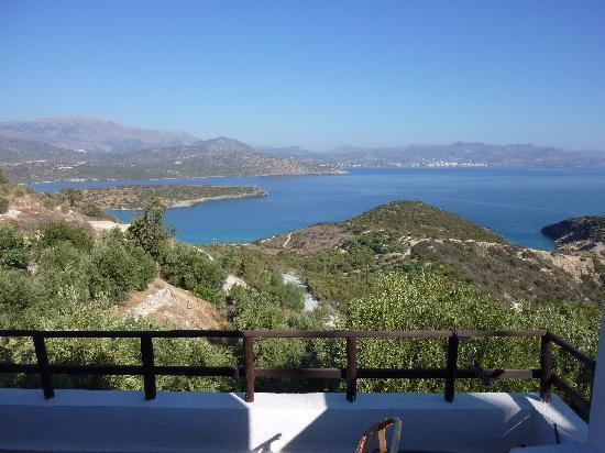Istron, Grecia: view from balcony of apartment 9